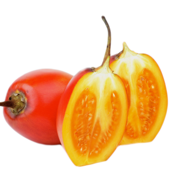 """<p class=""""nom"""">Le tamarillo</p><p class=""""description"""">Pourquoi on l'aime? Pour son goût sucré et acidulé qui rappelle un peu la tomate ou le kiwi.</p>"""