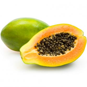 """<p class=""""nom"""">La papaye</p><p class=""""description"""">Pourquoi on l'aime? Parce qu'elle peut se déguster de diverses façons selon les goûts : encore verte en salade, en curry, en ragoût. Ou bien mûre et profiter pleinement de sa chair savoureuse, douce, sucrée et fondante... La chair se consomme après avoir enlevé les graines (elles sont toutefois comestibles, bien que leur saveur poivrée les rend légèrement amères).</p>"""