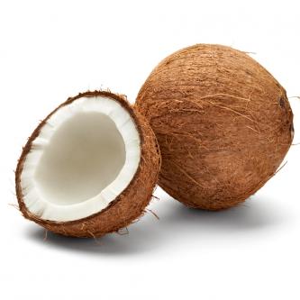 """<p class=""""nom"""">La Noix de coco sèche</p><p class=""""description"""">Pourquoi on l'aime? Sous sa coque brune, très dure, on trouve une chair dense blanc laiteux, la pulpe, très croquante, ainsi qu'un liquide sucré, l'eau de coco.</p>"""