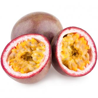 """<p class=""""nom"""">Le fruit de la passion violet (Ouganda)</p><p class=""""description"""">Sa caractéristique ? Une chair d'un orangé intense et une petite pointe d'acidité.</p>"""