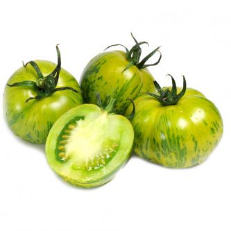 """<p class=""""nom"""">La Green Zebra</p><p class=""""description"""">Sa caractéristique : On l'aime pour son coté acide qui, associé à d'autres variétés, donne une saveur unique à vos salades estivales. Sous sa peau un peu épaisse, se trouve une tomate très juteuse.</p>"""