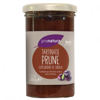 """<p class=""""nom"""">Tartinade Prune</p><p class=""""description"""">Notre tartinade de Prunes a été réalisée avec les prunes Président bio de Christine Liotard. Ses vergers sont situés dans les Baronnies à Saint-Sauveur-Gouvernet (26).</p><p class=""""format"""">280 g</p>"""