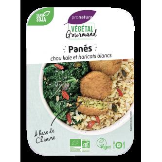 """<p class=""""nom"""">Panés de chou kale et haricots blancs au chanvre</p><p class=""""description"""">Nous avons associé le chou kale aux haricots blancs et au chanvre pour développer une recette à la fois saine, riche en protéines et gourmande.</p>"""
