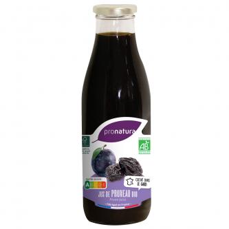 """<p class=""""nom"""">Jus de Pruneau</p><p class=""""description"""">Pour notre jus de pruneau, nous avons sélectionné la variété prune d'Ente. L'infusion à basse température permet de préserver les arômes du fruit.</p><p class=""""format"""">75cl</p>"""