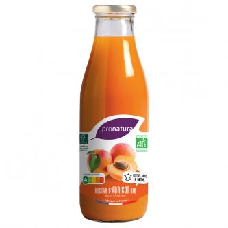 """<p class=""""nom"""">Nectar d'Abricot</p><p class=""""description"""">Le terroir de la Drôme Provençale, en face du Mont Ventoux, confère à ses abricots un goût remarquable. L'association de l'abricot Bergeron très parfumé et légèrement acidulé avec l'Orangé de Provence à la chair fine, fondante et très juteuse donne un nectar onctueux aux arômes délicats.</p><p class=""""format"""">75cl</p>"""